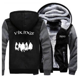 VIKING LAIR Sweatshirt Dark Gray Black 5 / L Viking Stylish Winter Sweatshirt + Hoodie