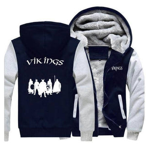 VIKING LAIR Sweatshirt Gray Dark Blue 5 / S (US) Viking Stylish Winter Sweatshirt + Hoodie