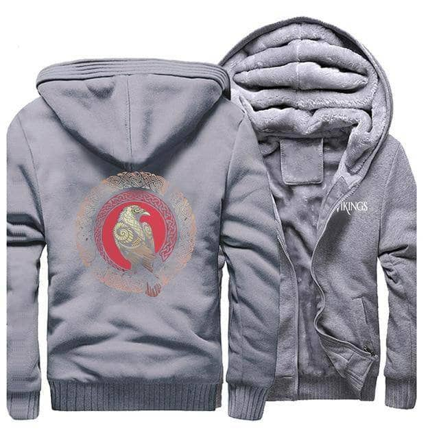 VIKING LAIR Sweatshirt Gray / M (US) Viking Raven Sweatshirt + Hoodie