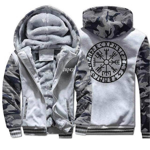 VIKING LAIR Sweatshirt Light Gray 1 / 4XL Viking Camo Vegvisir Sweatshirt + Hoodie