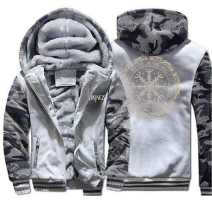 VIKING LAIR Sweatshirt Light Gray 6 / L (US) Viking Thick Camo Winter Men Sweatshirt + Hoodie