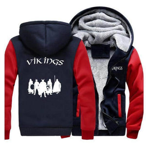 VIKING LAIR Sweatshirt Red Dark Blue 5 / XL (US) Viking Stylish Winter Sweatshirt + Hoodie