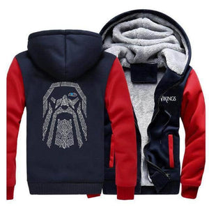 VIKING LAIR Sweatshirt Red Dark Blue / S (US) Viking Odin Sweatshirt + Hoodie
