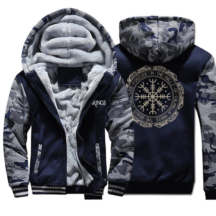 VIKING LAIR Sweatshirt Viking Thick Camo Winter Men Sweatshirt + Hoodie