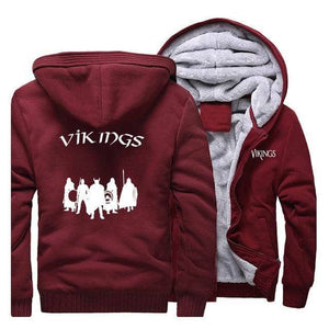 VIKING LAIR Sweatshirt Wine Red 1 / M Viking Stylish Winter Sweatshirt + Hoodie