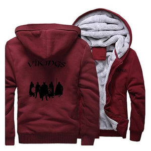 VIKING LAIR Sweatshirt Wine Red 5 / L Viking Stylish Winter Sweatshirt + Hoodie