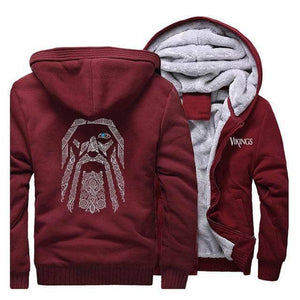 VIKING LAIR Sweatshirt Wine Red / L (US) Viking Odin Sweatshirt + Hoodie