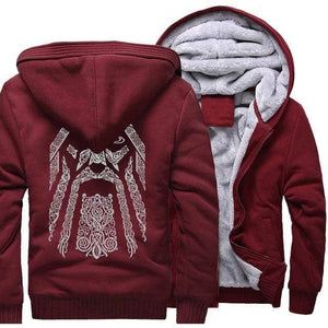 VIKING LAIR Sweatshirt wine red / S(US) Odin Viking Sweatshirt + Hoodie