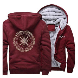VIKING LAIR Sweatshirt Wine Red / XL (US) Viking Cool Symbol Sweatshirt + Hoodie