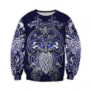 VIKING LAIR Sweatshirts / 7XL Viking Warrior Tattoo Tracksuit 3D Full Print Hoodie + Sweatshirt
