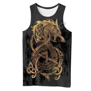 VIKING LAIR Tank Top / S Unisex Viking Warrior Tattoo Sweatshirt Style 1
