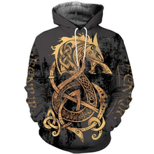 Load image into Gallery viewer, VIKING LAIR Unisex Viking Warrior Tattoo Sweatshirt Style 1