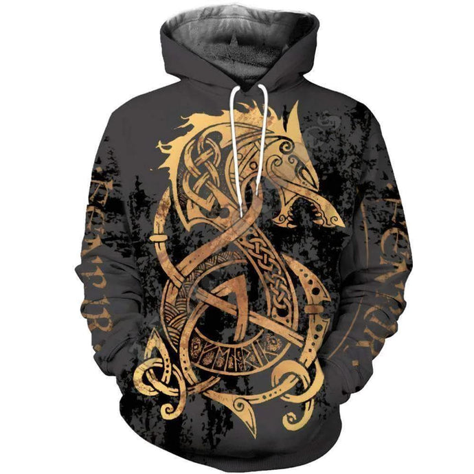VIKING LAIR Unisex Viking Warrior Tattoo Sweatshirt Style 1