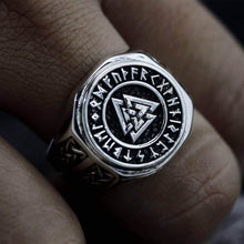 Load image into Gallery viewer, VIKING LAIR Valknut Viking Symbol Stainless Steel Ring