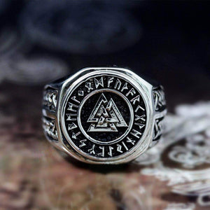 VIKING LAIR Valknut Viking Symbol Stainless Steel Ring
