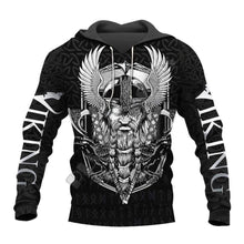 Load image into Gallery viewer, VIKING LAIR Viking Odin Warrior Tattoo 3D Printed Hoodie + Sweatshirt