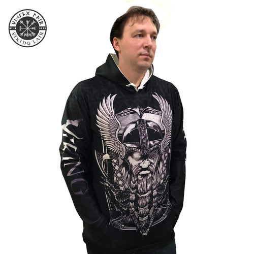 VIKING LAIR Viking Odin Warrior Tattoo Tracksuit 3D Printed Hoodie + Sweatshirt