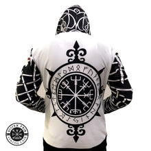 Load image into Gallery viewer, VIKING LAIR Viking Vegvisir Geri & Freki Tattoo 3D Printed Hoodie + Sweatshirt