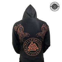 Load image into Gallery viewer, VIKING LAIR Viking Warrior Valknut Futhark Ravens Tattoo 3D Printed Hoodie + Sweatshirt