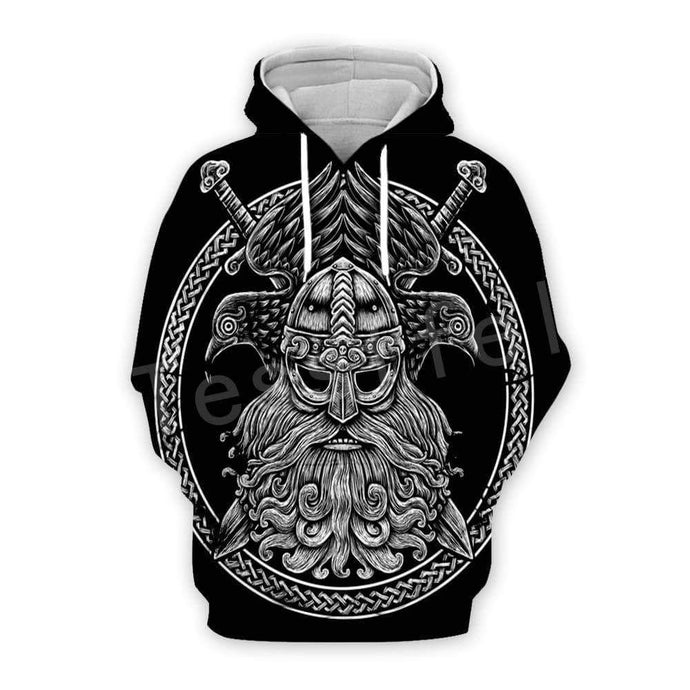 VIKING LAIR Viking Warriors Tattoo 3D Printed Hoodie + Sweatshirts