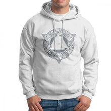 Load image into Gallery viewer, VIKING LAIR White / S(US)/XL Man Valknut Ice Flame Hoodies