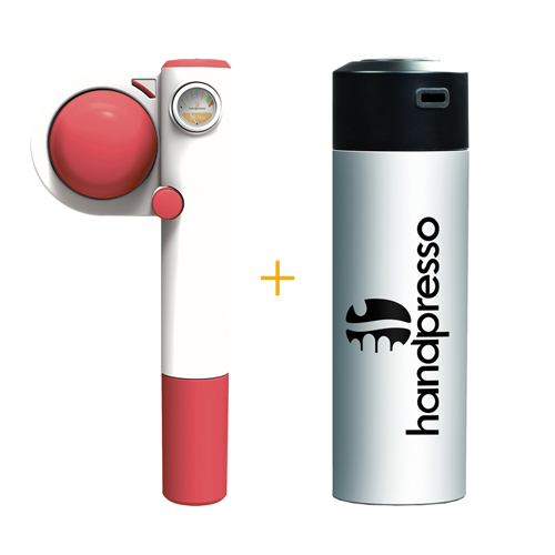 Handpresso Pump Pop Pink + White Thermos Flask