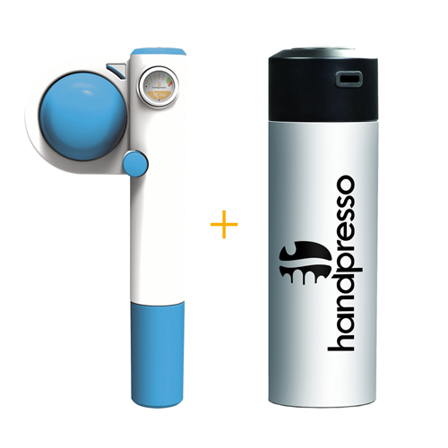Handpresso Pump Pop Blue + White Thermos Flask
