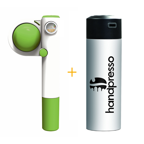 Handpresso Pump Pop Green + White Thermos Flask