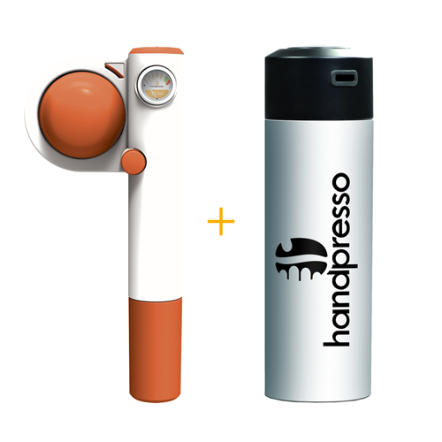 Handpresso Pump Pop Orange + White Thermos Flask