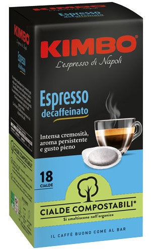Kimbo Decaffeinated ESE Coffee Pods