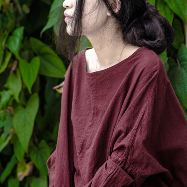 Cotton Linen Pullover Shirt