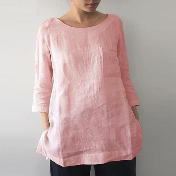 3/4 Sleeve Loose Fit Cotton Tunic