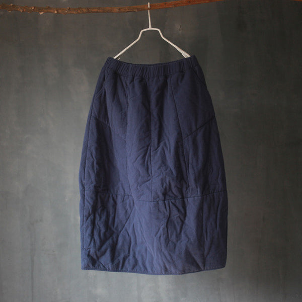 Winter Quilted Cotton Bud Skirt