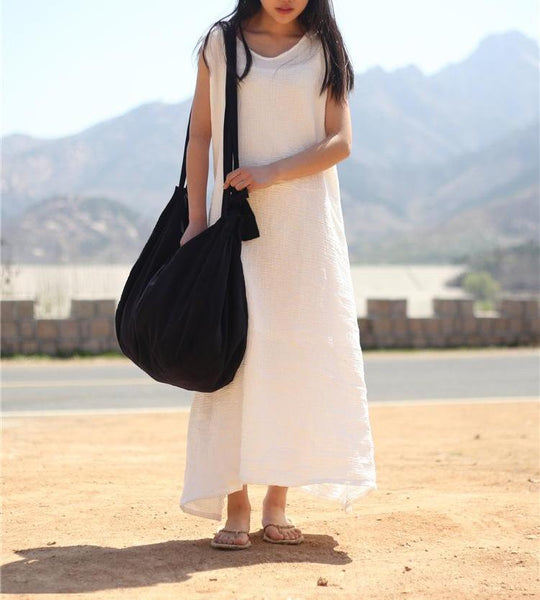 Double Cotton Draw String Tank Dress