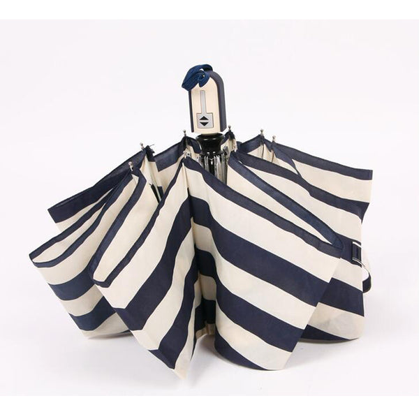 Striped Automatic Folding Umbrella