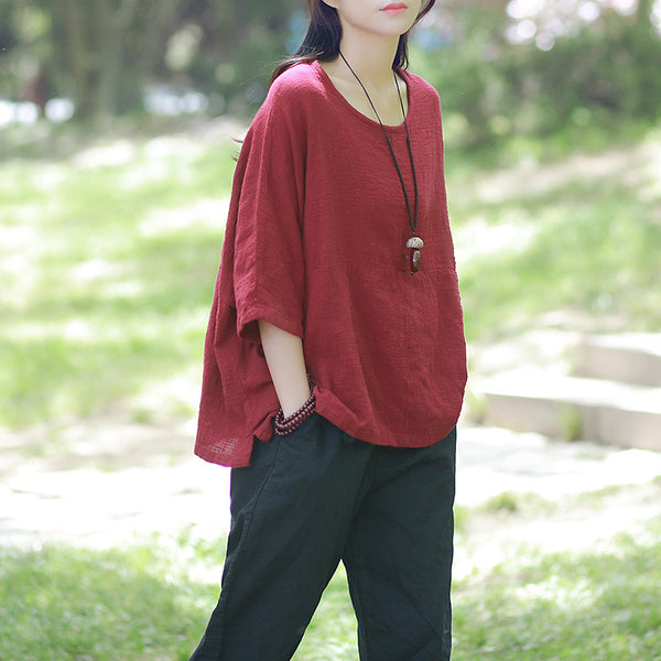Cotton Linen Over-sized Shirt