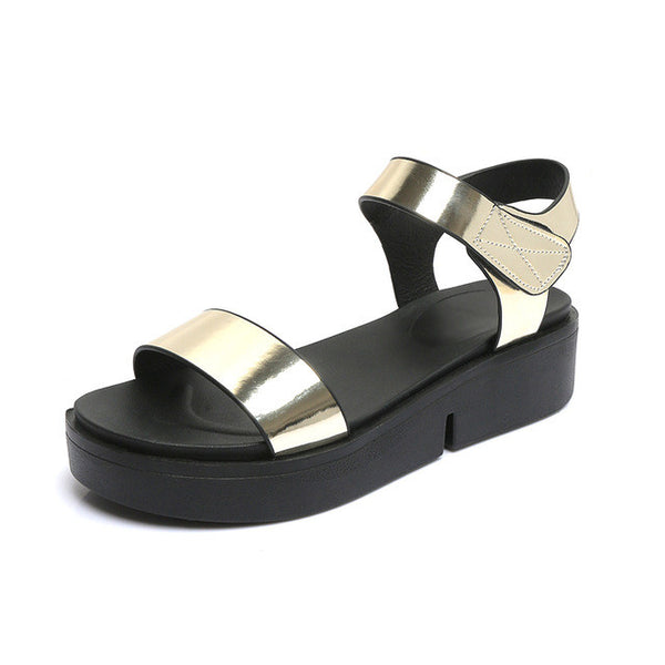 Shiny Gladiator Platform Sandals