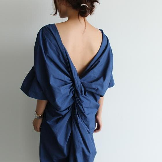 Backless Fold Dress