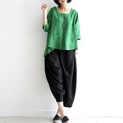 Asymmetric Hem Front Pockets Shirt