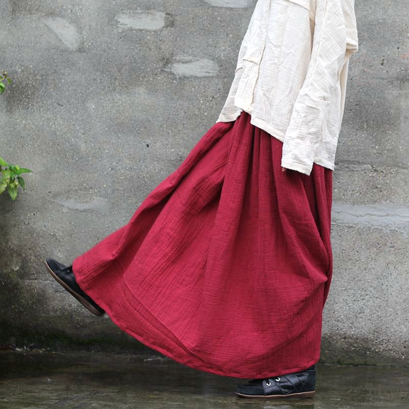 Full Length Pleated Skirt