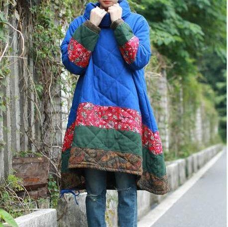 Warm Winter Quilted Cotton  Pullover Parka
