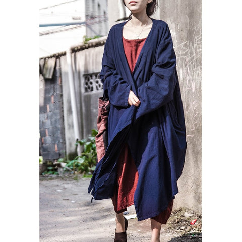 Asymmetric Hem Tie Closure Cardigan