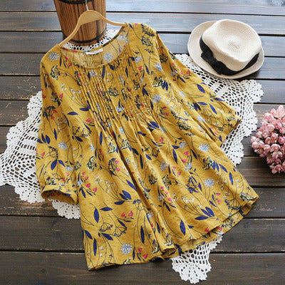 Floral Printed Pleated Tunic