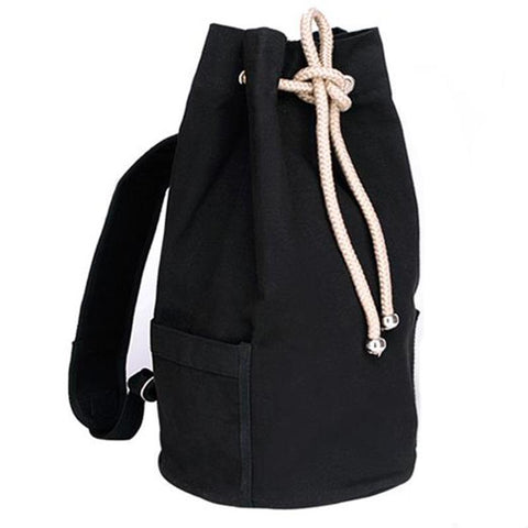 Large Capacity Drawstring Canvas Backpack
