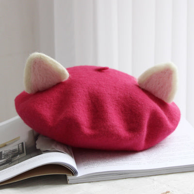 Women's March Warm Woolen Beret