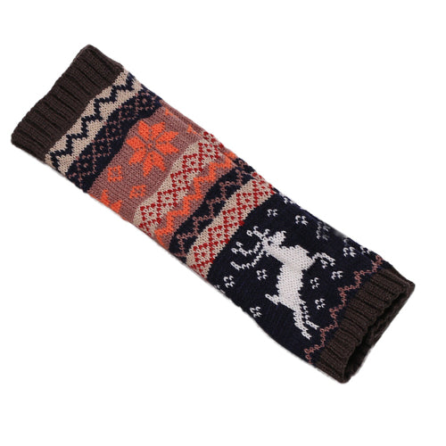 Fingerless Reindeer Wrist Warmers
