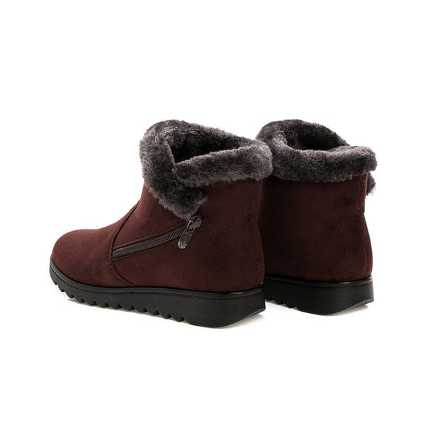 Side Zip Winter Ankle Boots