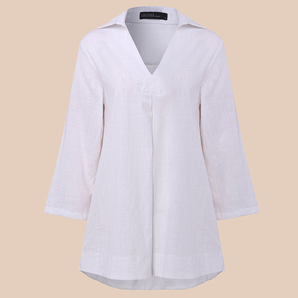 Cotton V Neck Shirt