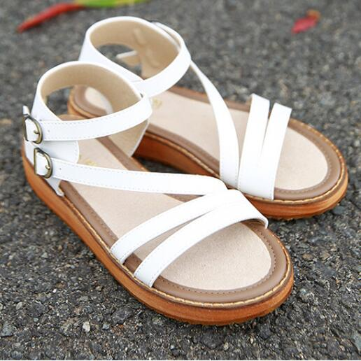 Low Platform Vegan Leather Sandals