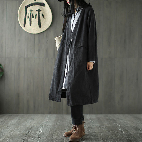 Cotton Button Front Shirt Coat